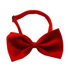 Plain Dog Bow Tie - Red