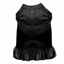 Plain Dog Dress - Black