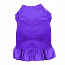 Plain Dog Dress - Purple