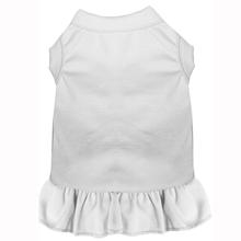 Plain Dog Dress - White