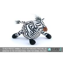 P.L.A.Y. Safari Dog Toy - Zara the Zebra