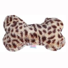 Plush Bone Dog Toy - Cheetah