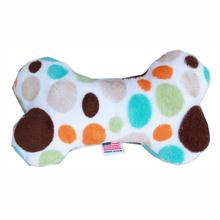 Plush Bone Dog Toy - Fall Party Dots