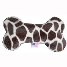 Plush Bone Dog Toy - Giraffe