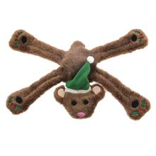 Plush Holiday Pentapuls Dog Toy - Bear Holly