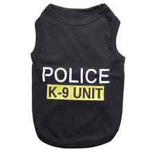 Police K9 Unit Dog Tank - Black