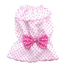 Polka Dot Bow Dog Tank by Puppe Love