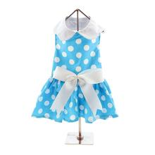 Polka Dot Dog Dress - Blue