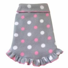 Polka Dot Ruffled Dog Pullover - Gray