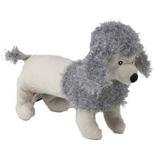 PoochRageous Poodle Dog Toy - Gray