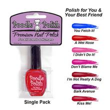 Poodle Polish Dog Nail Polish - Red - A Wet Nose!