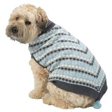 Prancer's Knit Dog Poncho - Winter Blue