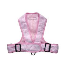 Precision Fit Gingham Dog Harness - Pink
