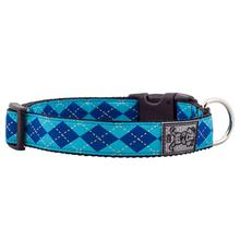 Preppy Adjustable Dog Collar by RC Pet - Blue
