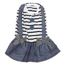 Preppy Girl Dog Dress by Dobaz - Striped