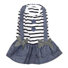 Preppy Girl Dog Dress by Parisian Pet - Striped