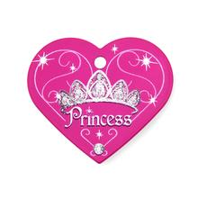 Princess Heart Large Engravable Pet I.D. Tag