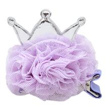 Princess Puff Dog Bow - Lavender