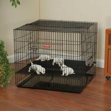 ProSelect Puppy PlayPen w/Plastic Pan - Black