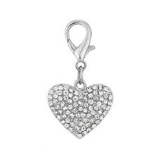 Puffy Heart D-Ring Pet Collar Charm by FouFou Dog - Clear