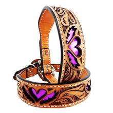 Purple Heart and Wings Dog Collar by MadCow