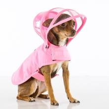 Push Pushi Rainbow Line Dog Raincoat - Pink