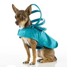 Push Pushi Rainbow Line Dog Raincoat - Teal