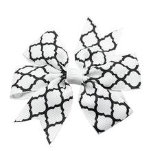Quatrefoil Dog Bow - White