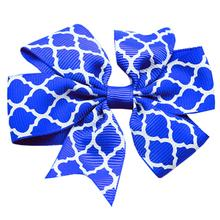 Quatrefoil Dog Bow - Blue