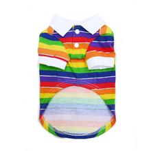 Rainbow Polo Dog Shirt by Dogo