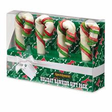 Ranch Rewards Holiday Rawhide Dog Candy Canes Gift Box - 4 Pack