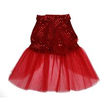 Red Sequin Tulle Dog Dress
