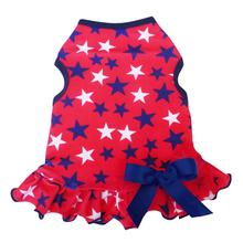 Red, White, and Blue Stars Dog Dress
