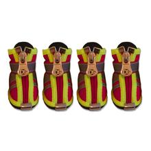 Reflector Dog Boots - Fire Engine Red