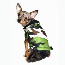 Reversible Camo Puffer Dog Vest by Hip Doggie