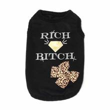 Rich Bitch Dog Shirt by Dogs of Glamour - Black