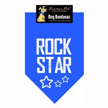 Rock Star Dog Bandana - Blue