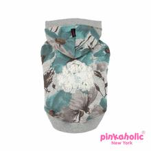 Romantic Garden Dog Hoodie by Pinkaholic - Teal