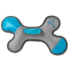 RoughRageous Bone Dog Toy - Aqua and Gray