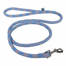 Round Braided Team Colors Dog Leash by Yellow Dog - Light Blue and Gray