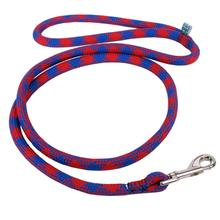 Round Braided Team Colors Dog Leash by Yellow Dog - Red and Royal Blue