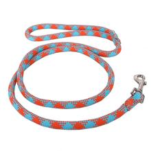 Round Braided Team Colors Dog Leash by Yellow Dog - Orange and Aqua