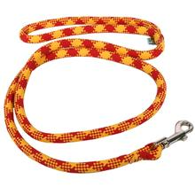 Round Braided Team Colors Dog Leash by Yellow Dog - Red and Gold