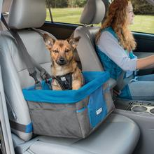 Heather Dog Booster Seat by Kurgo - Charcoal and Coastal Blue