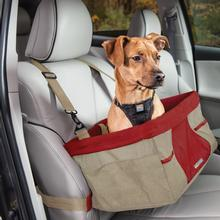 Heather Dog Booster Seat by Kurgo - Nutmeg and Barn Red
