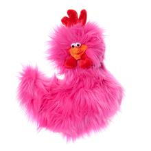 Rowdy Rooster Dog Toy - Hot Pink