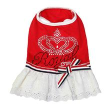 Royal Crown Dog Dress by Parisian Pet - Red