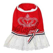 Royal Crown Dog Dress by Dobaz - Red