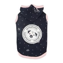 Royal Pug Hooded Dog Shirt by Pinkaholic - Navy