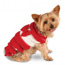 Rubies Holiday Knit Dog Dress - Red